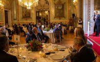 Momento de la fiesta organizada por 'El Español' (Foto. @pedroj_ramirez)