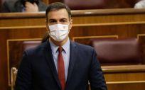 Pedro Sánchez, presidente del Gobierno, interviene en el Congreso de los Diputados (Foto: Congreso)