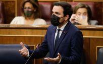 Alberto Garzón, ministro de Consumo, interviniendo en el Congreso de los Diputados (Foto: Congreso)