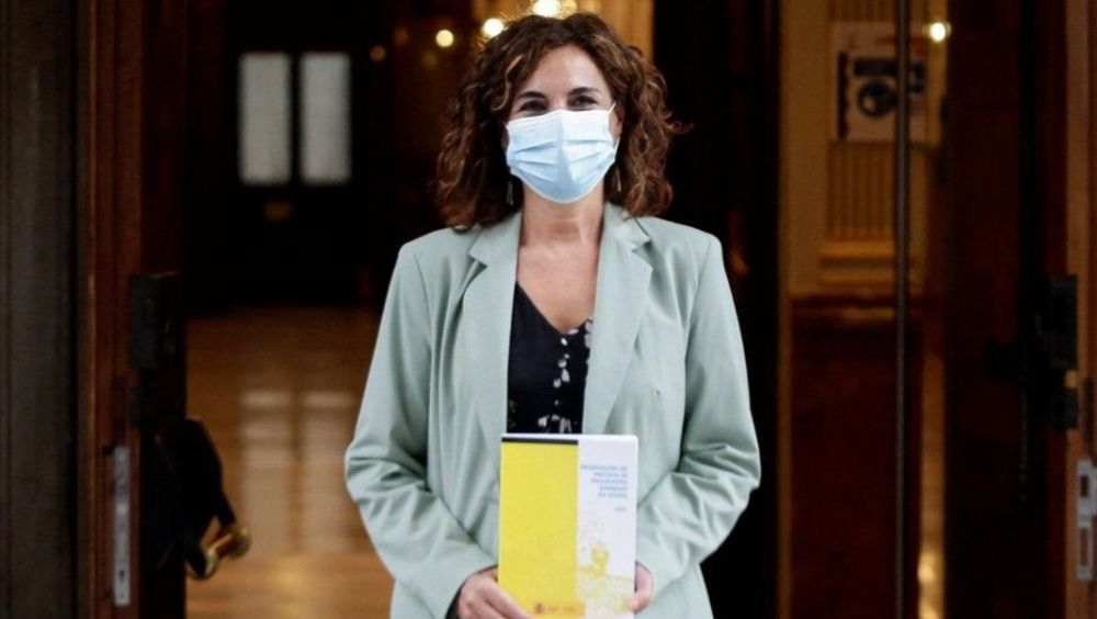 María Jesús Montero, ministra de Hacienda, antes de presentar los PGE de 2021 en el Congreso de los Diputados (Foto: Congreso)
