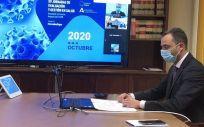 El secretario general de Salud Digital, Información e Innovación del Ministerio de Sanidad, Alfredo González Gómez, durante las jornadas. (Foto. Ministerio de Sanidad)