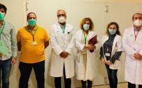Equipo de Profesionales Guía del Hospital de Málaga (Foto. Junta de Andalucía)