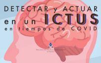 Enfermería enseña a los ciudadanos cómo detectar el ictus (cartel del CGE)