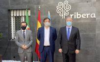 Visita inaugural a Ribera 'Santa Justa'.
