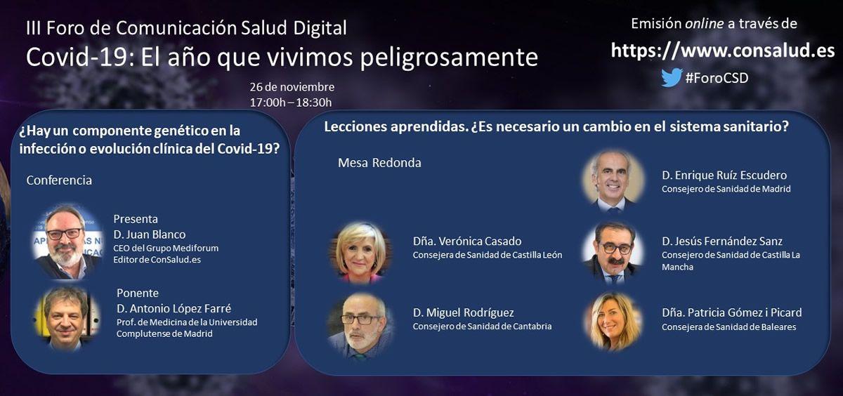Ponentes de la mesa 3 en el III Foro de Comunicación Salud Digital
