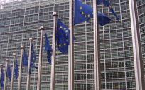 Banderas europeas en la Comisión Europea (Foto. Farmaindustria)
