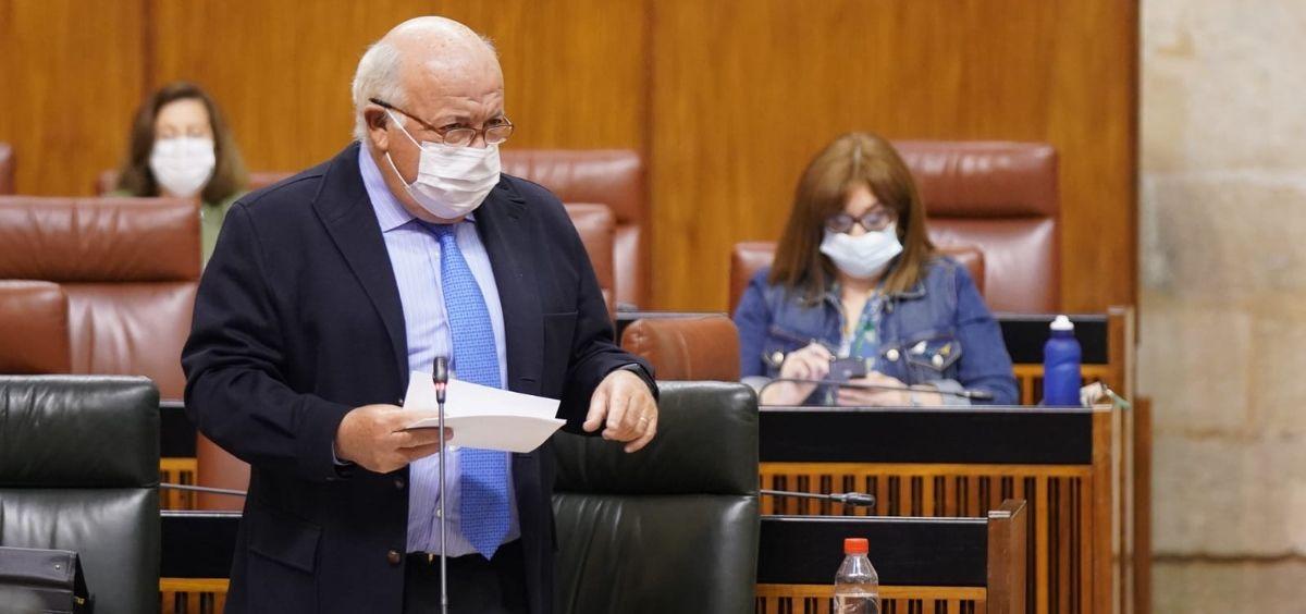 El consejero de Salud de Andalucía, Jesús Aguirre (Foto. Junta de Andalucía)