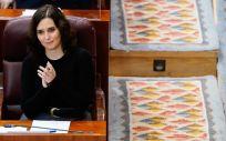 La presidenta de la Comunidad de Madrid, Isabel Díaz Ayuso, en la Asamblea regional (Foto: CAM)