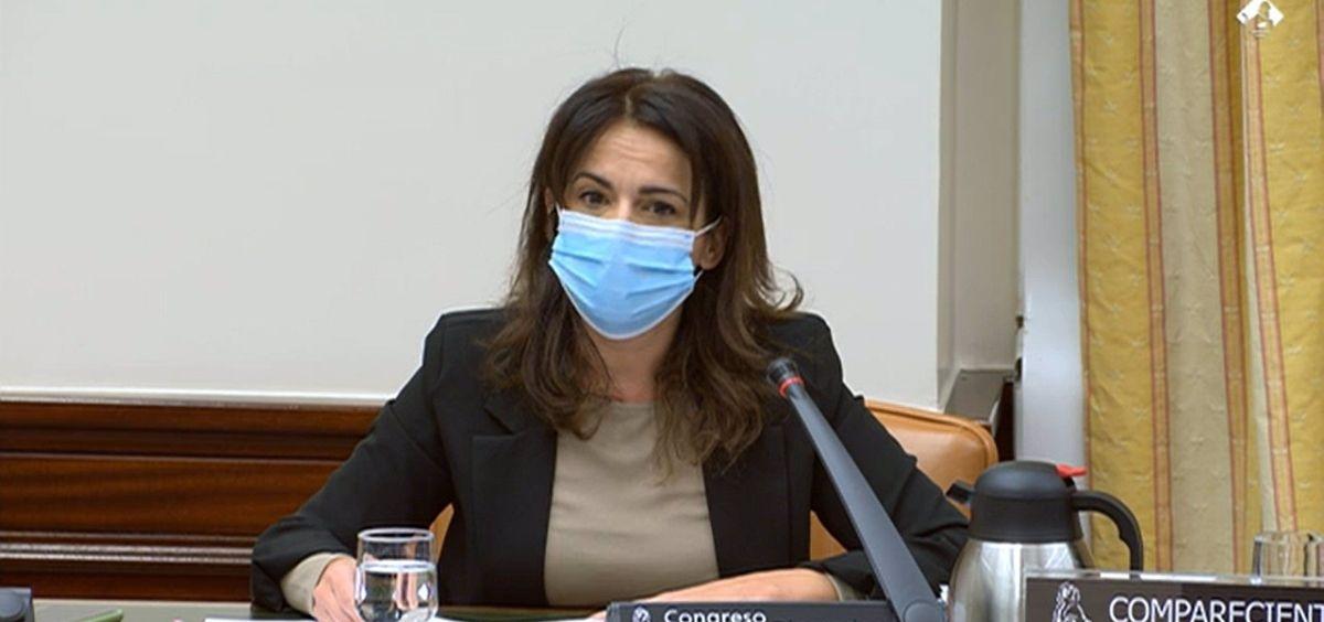 La secretaria de Estado de Sanidad, Silvia Calzón (Foto. Congreso de los Diputados)