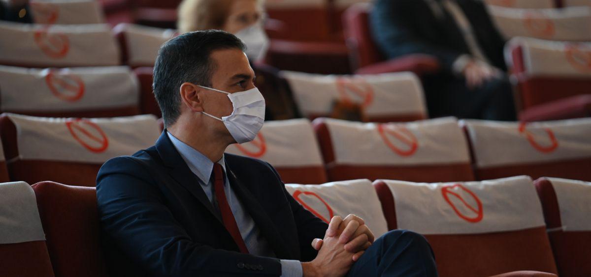 El presidente del Gobierno, Pedro Sánchez, en su visita al CSIC (Foto. CSIC)