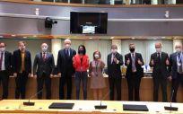 Miembros del equipo negociador del Parlamento Europeo y del Consejo Europeo (Foto: @JanOlbrycht)