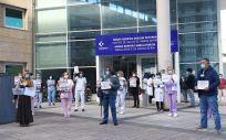 Una de las protestas convocadas por los sindicatos en defensa de la sanidad vasca. (Foto. @UGTEuskadi)