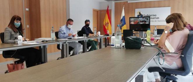 Reunión de la Mesa Sectorial de Sanidad de Canarias (Foto: Gobierno de Canarias)