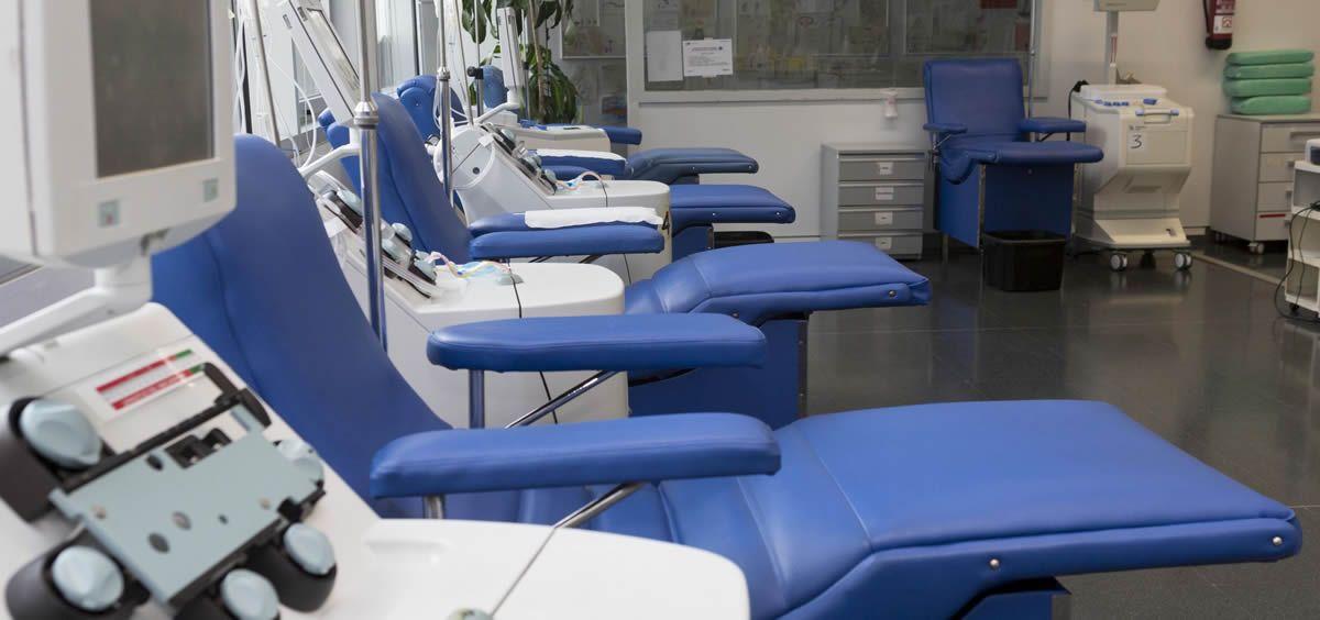 Camillas en hilera en la sala de donación (Foto: Centro de Transfusión)
