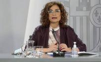 María Jesús Montero, ministra de Hacienda y portavoz del Gobierno (Foto: Pool Moncloa / JM Cuadrado)