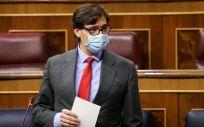 Salvador Illa, ministro de Sanidad, interviniendo en el Congreso de los Diputados (Foto: Congreso)
