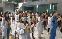 Imagen de una jornada de protestas de los médicos. (Foto. CESM)
