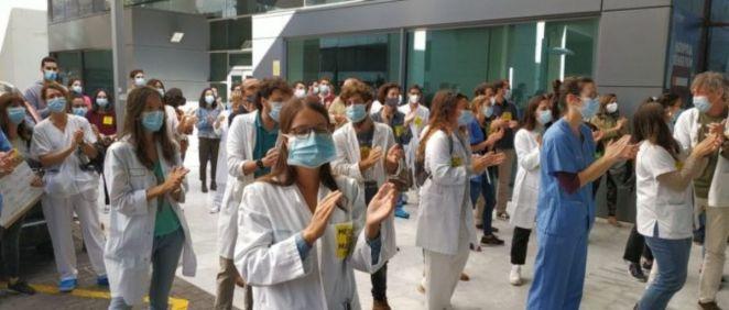 Imagen de una de la jornadas de protesta de los médicos. (Foto. CESM)