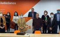 Delegación de Ciudadanos en Murcia, reunida con los sindicatos sanitarios (Foto: @CsRegionMurcia)