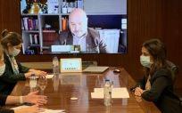 Momento de la reunión (Foto. Ministerio de Sanidad)