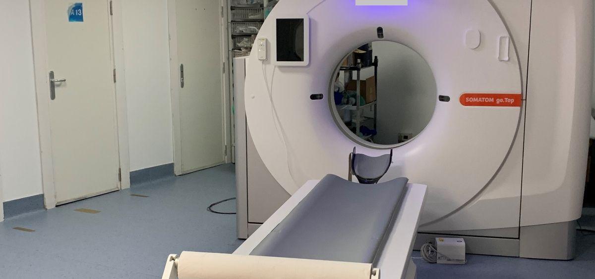 Nuevo TAC del Hospital de Móstoles (Foto. Hospital de Móstoles)