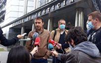 Representantes del Sindicato LAB ante los medios. (Foto. LAB)