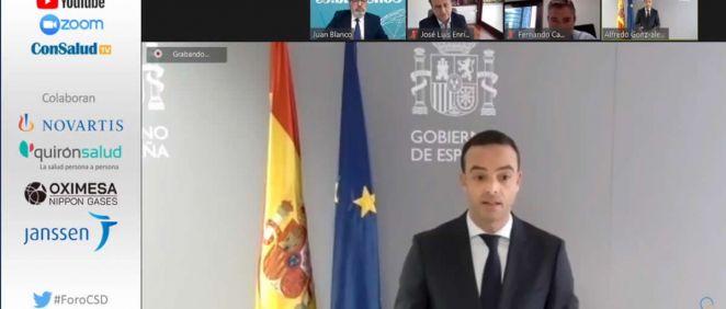 Alfredo González Gómez, secretario general de Salud Digital, Información e Innovación del Sistema Nacional de Salud, durante su intervención (Foto. ConSalud.es)