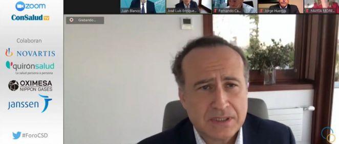 José Luis Enríquez, vicepresidente de Atrys Health, durante su intervención (Foto. ConSalud.es)