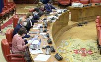 Mesa de la Comisión de Presupuestos (Foto: Congreso)