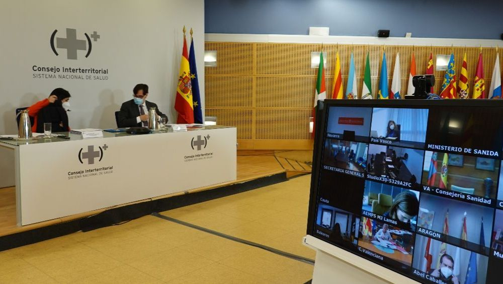 Reunión del pleno del Consejo Interterritorial del SNS (Foto: Pool Moncloa / Susana Pfingsten)