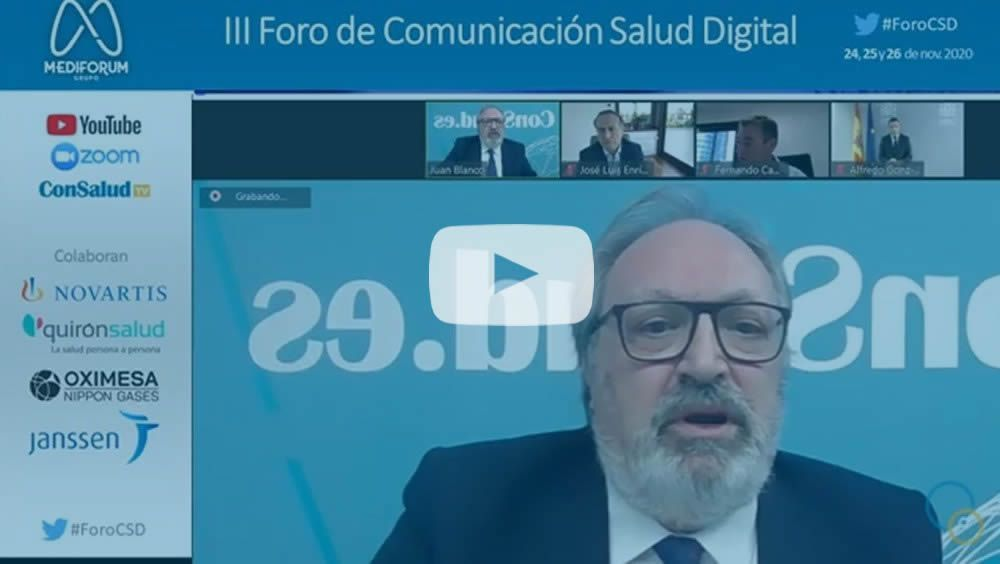 Juan Blanco, CEO del Grupo Mediforum, durante su intervención (Foto. ConSalud.es)