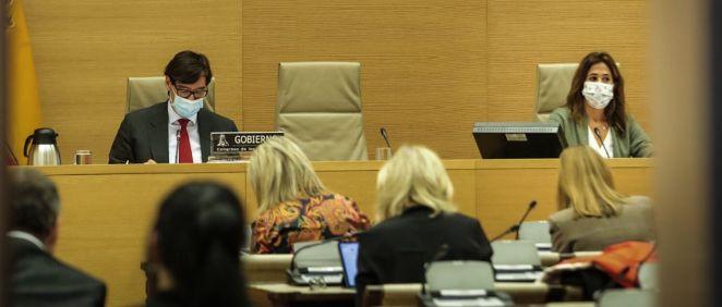 Diputados del PP escuchan a Salvador Illa, ministro de Sanidad, en la Comisión de Sanidad del Congreso (Foto: Flickr PP)