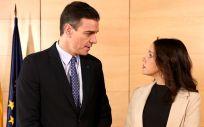 Pedro Sánchez e Inés Arrimadas, en un encuentro en el Congreso (Foto: PSOE)
