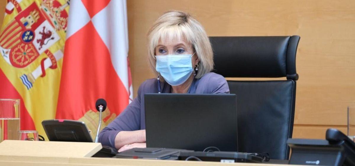 Verónica Casado, titular de Sanidad de Castilla y León. (Foto. Cortes de CyL)