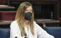 La consejera de Salud de Baleares, Patricia Gómez, durante su comparecencia (Foto: Parlamento IB)