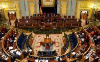 El pleno del Congreso de los Diputados, durante la intervención de Salvador Illa (Foto: Congreso)