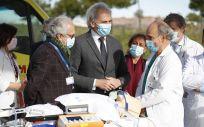 El consejero de Sanidad, Enrique Ruiz Escudero, ha presentado el protocolo que hoy se pone en marcha en la región (Foto. Comunidad de Madrid)
