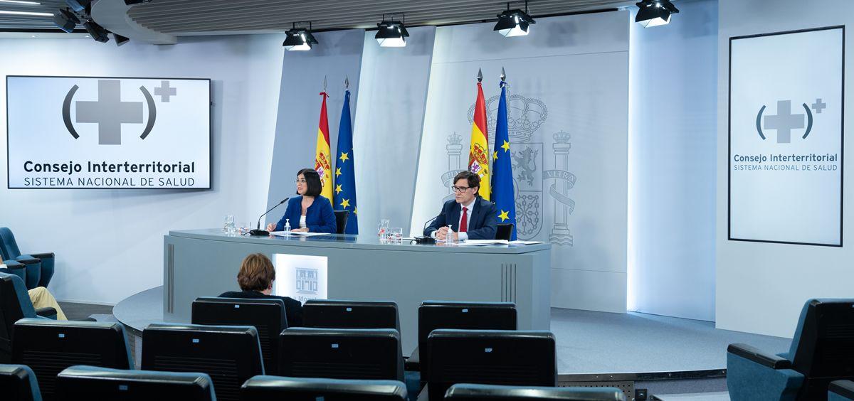Carolina Darias y Salvador Illa, en rueda de prensa (Foto: La Moncloa)