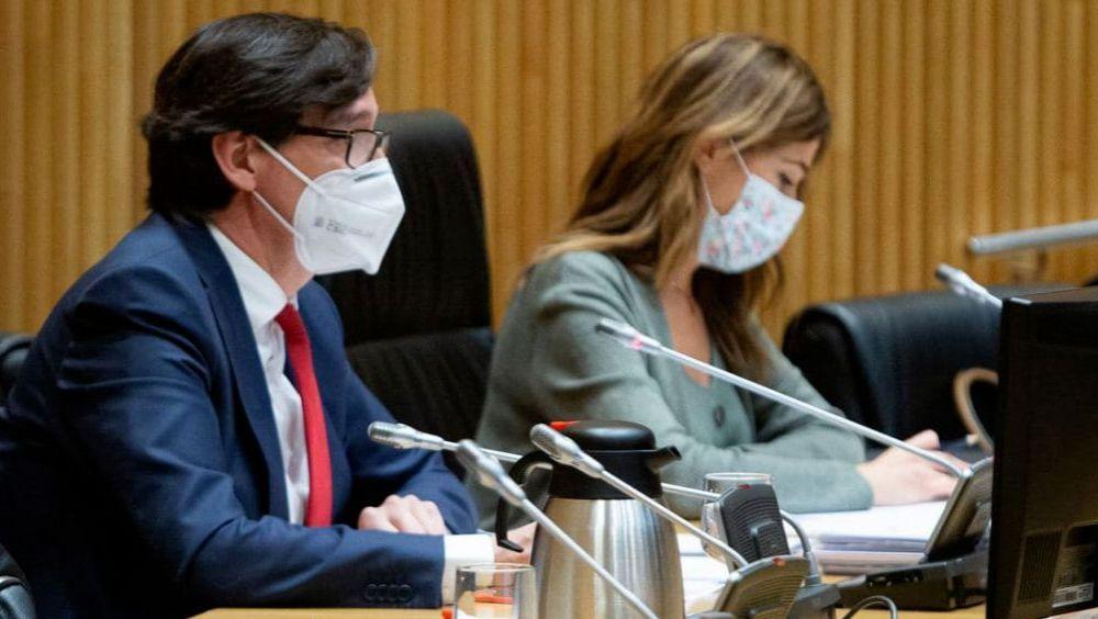 Salvador Illa, ministro de Sanidad, en la Comisión de Sanidad y Consumo del Congreso de los Diputados (Foto: Congreso)