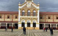 Gran patio central del Centro Penitenciario de Burgos (Foto. II.PP)