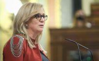 Ana Prieto, del Grupo Parlamentario Socialista, utilizando el turno a favor de la toma en consideración de la Proposición de Ley sobre ratios de enfermeras (Foto: Congreso de los Diputados)