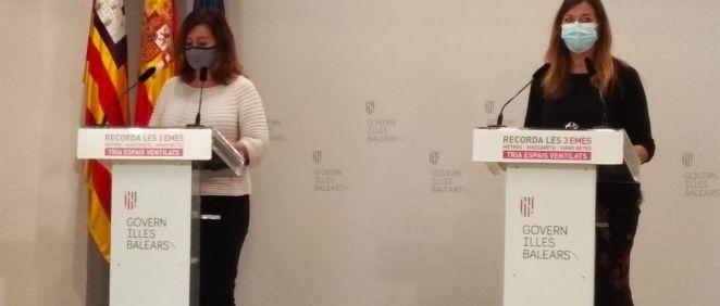 Armengol y Gómez, en rueda de prensa en el Consolat. (Foto. EUROPA PRESS)