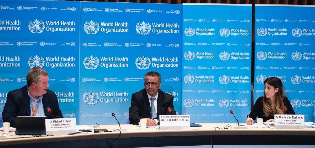 El director general de la Organización Mundial de la Salud, Tedros Adhanom Ghebreyesus, en una rueda de prensa. (Foto. OMS)