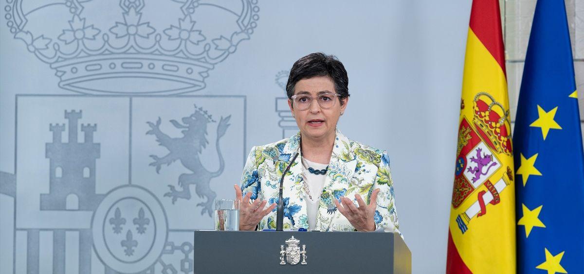La ministra de Asuntos Exteriores, Arancha González Laya. (Foto. Pool Moncloa - Borja Puig de la Bellacasa)