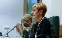 La consejera de Desarrollo Económico, Sostenibilidad y Medio Ambiente, Arantxa Tapia, comparece en el Parlamento vasco (Foto. Parlamento vasco)