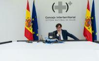 El ministro de Sanidad, Salvador Illa, en el Consejo Interterritorial del SNS (Foto: Pool Moncloa)
