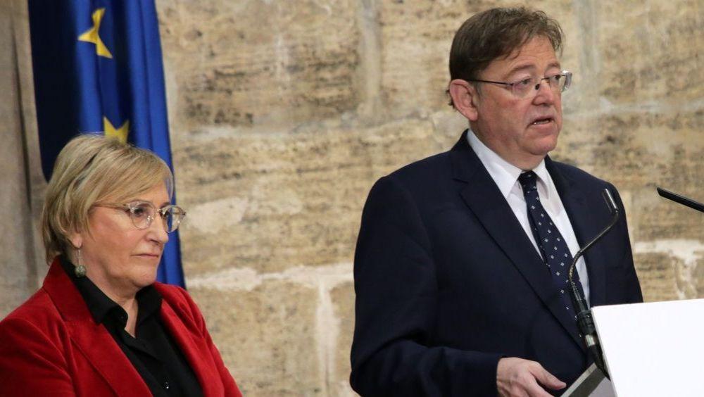 Ximo Puig, presidente de la Generalitat Valenciana, y Ana Barceló, consejera de Sanidad (Foto: GVA)