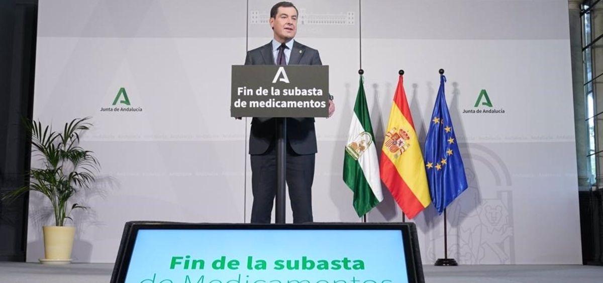 El presidente de la Junta de Andalucía, Juanma Moreno (Foto. Junta de Andalucía)