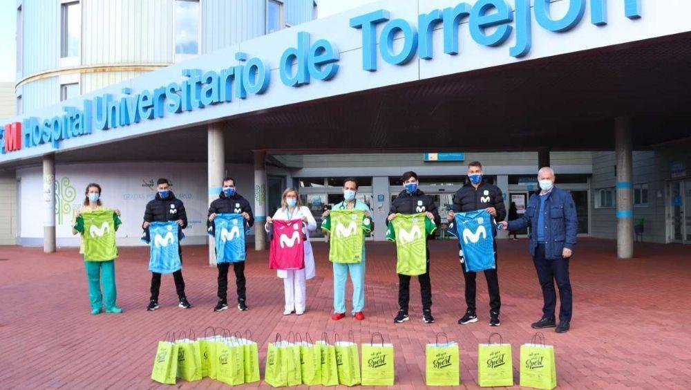 Inter Movistar dona sus camisetas a los niños del Torrejón