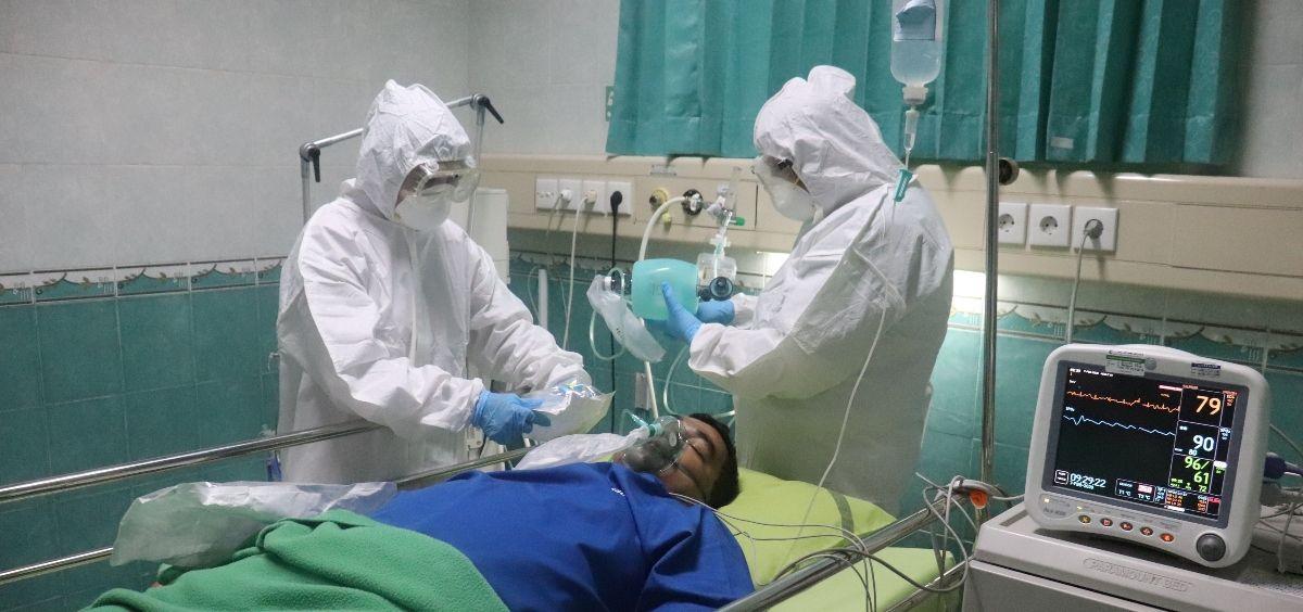 Paciente con covid 19 ingresado en un hospital. (Foto. Unsplash)
